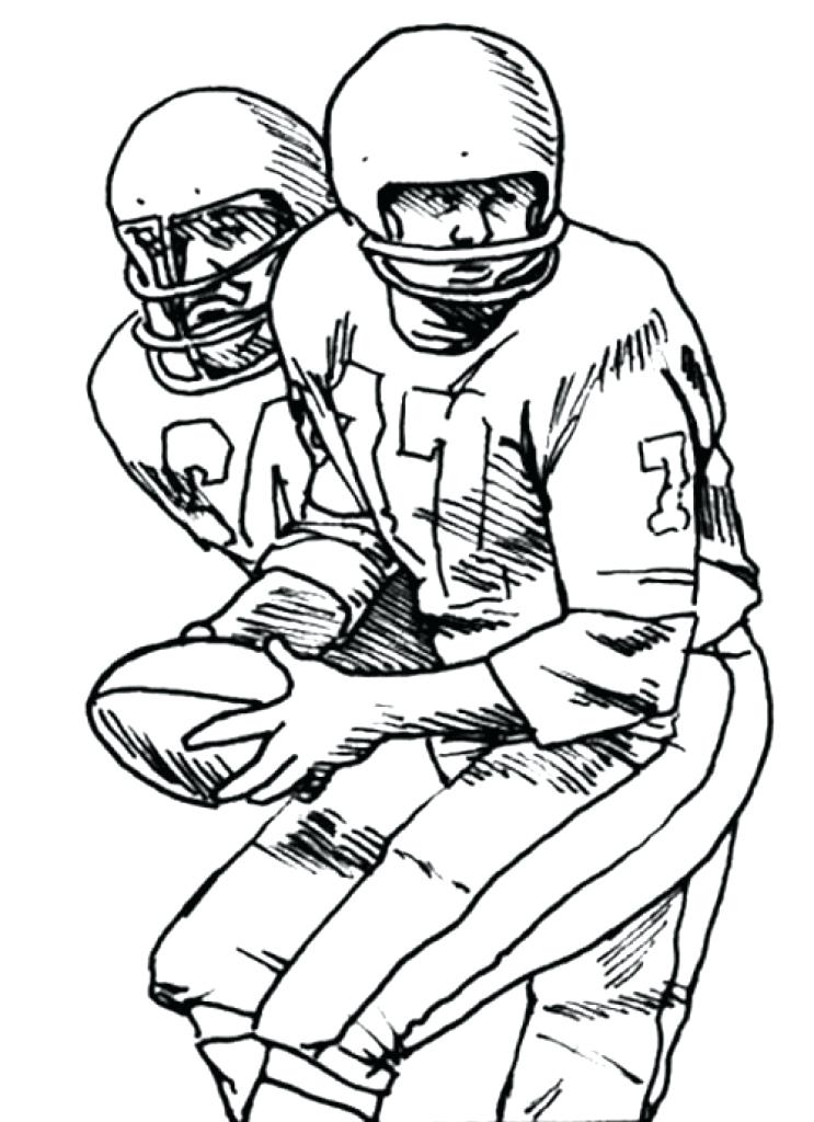 743x1024 Free Printable Football Coloring Pages Two Football Player