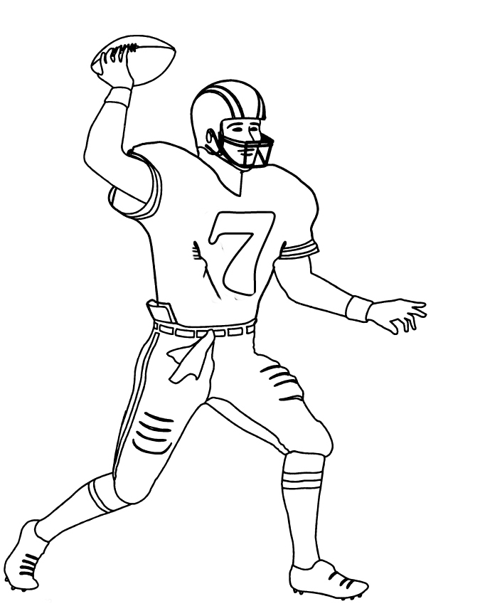 675x859 Nfl Football Player Number 7 Coloring For Kids