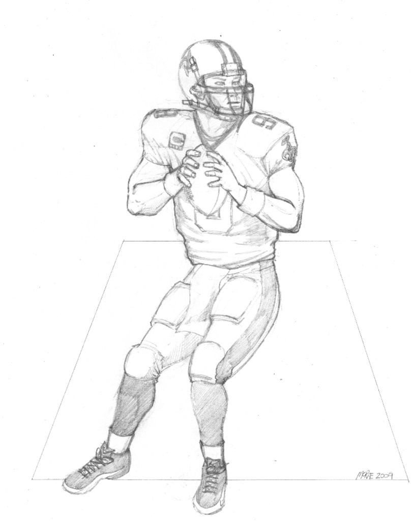 Nfl Player Drawing at GetDrawings.com | Free for personal use Nfl ...