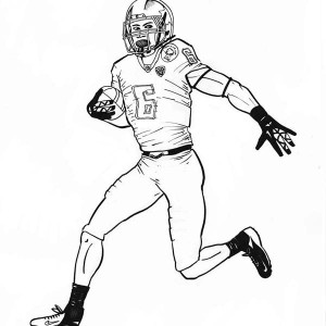 300x300 Nfl Football Player Coloring Pages