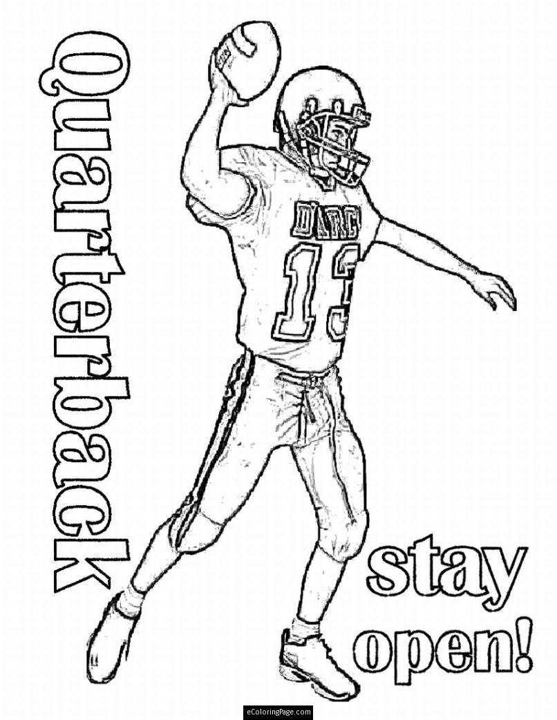 806x1042 Nfl Quarterback Coloring Pages Football For Kids