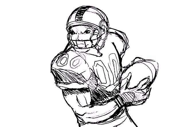 600x441 Professional Player Of Nfl Coloring Page Color Luna