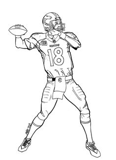 236x323 How To Draw Football Players Football Player Coloring Pages