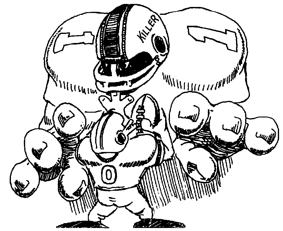 934x763 Nfl Football Character Clipart