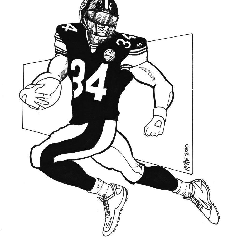 865x900 Big Stomp Pro Football Helmet Coloring Nfl Steeler Pages Printable