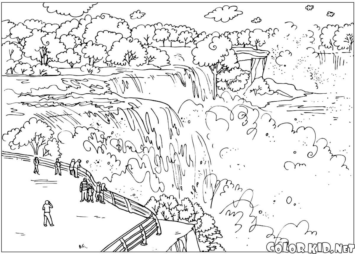 1200x857 Niagara Falls Coloring Pages Coloring Page For Kids