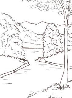 236x322 Niagara Falls Coloring Page