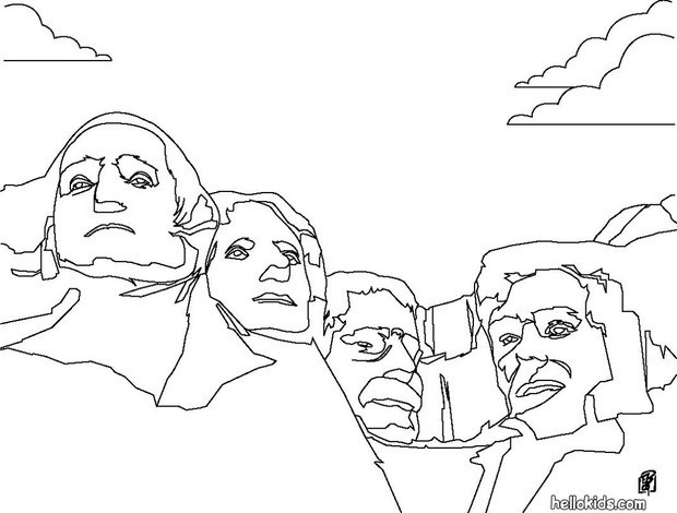 coloring pages of mount rushmore - photo#11