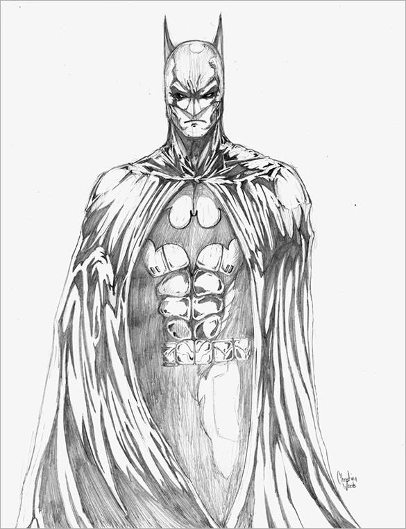 585x761 Fantastic Batman Drawings Download! Free Amp Premium Templates