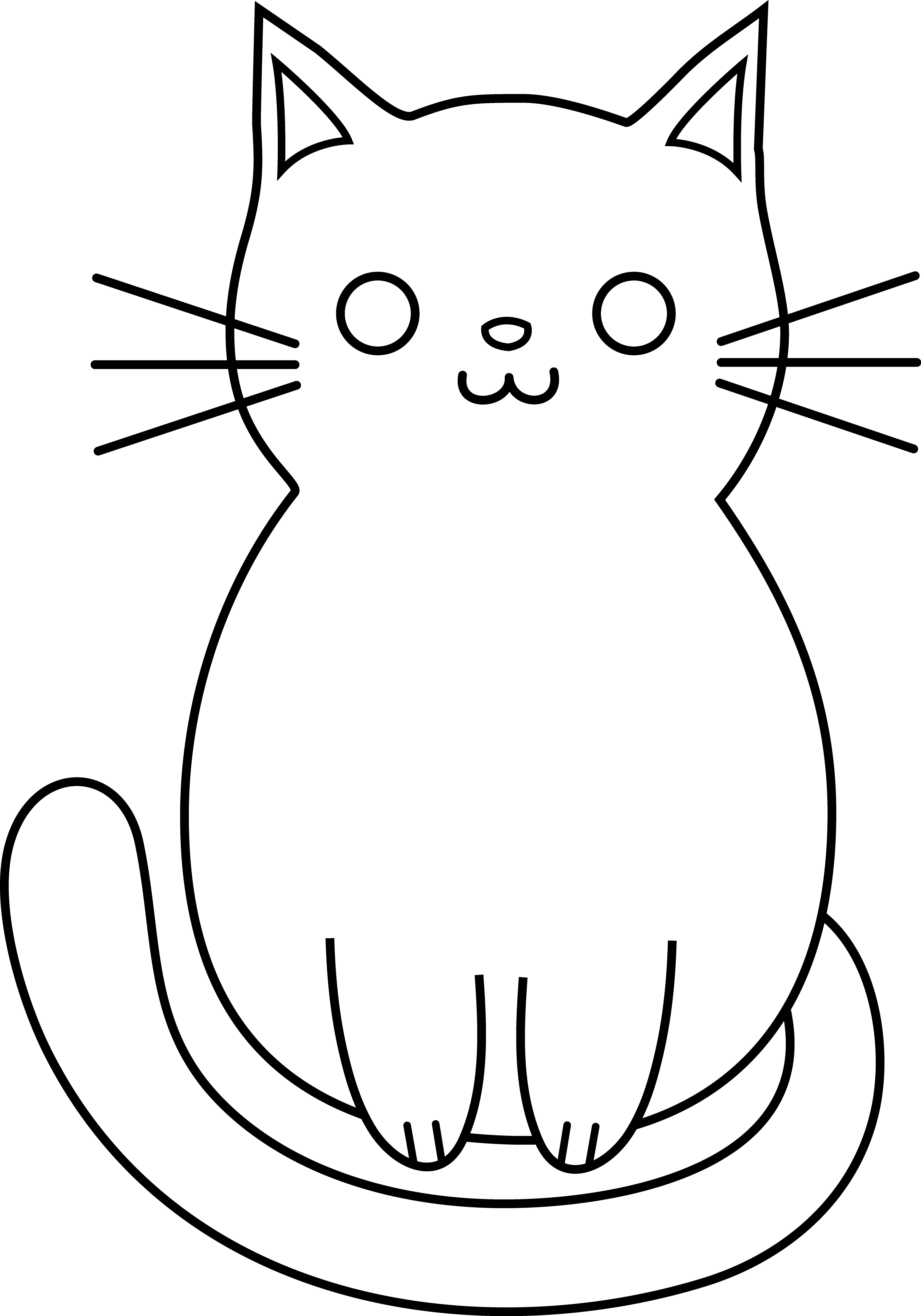 3528x5039 Simple Cat Face Drawing Nice Concept Of Cat Drawings Easy Funny
