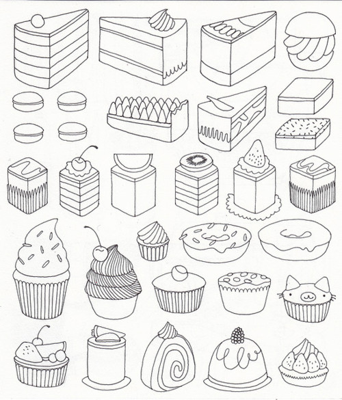 500x585 Cake More, Cute Drawings, Nice To Print Out, For My Little Lady