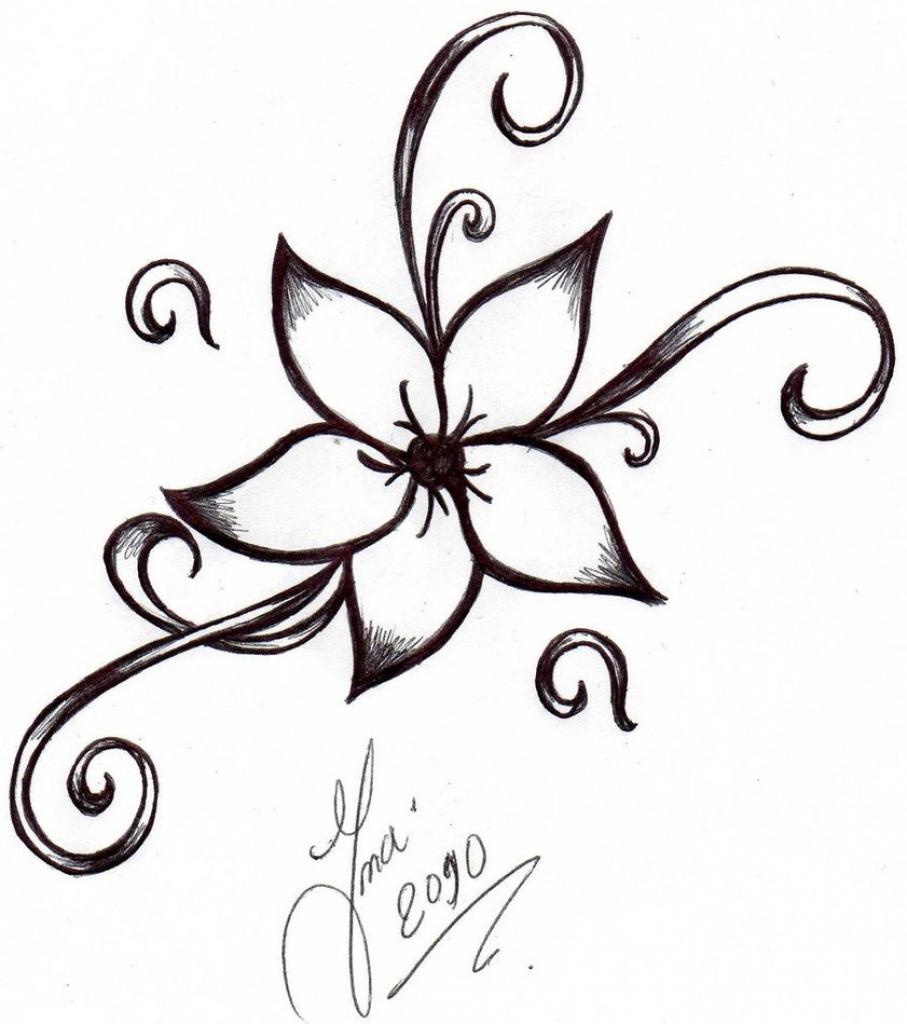 907x1024 Easy Drawing Flowers Nice Easy Drawings Of Flowers