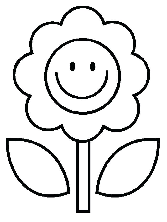 700x933 Easy Flower Coloring Pages Coloring Pages Draw Easy Flowers Flower