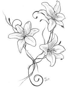 236x292 Drawn Lily Nice Flower