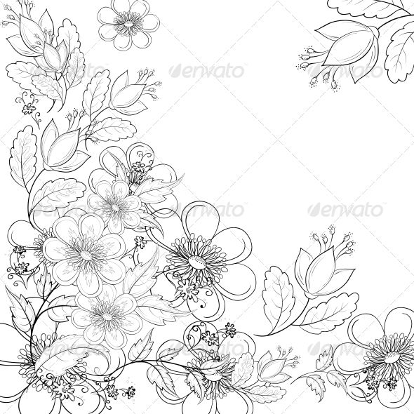 590x590 Flower Outline Drawings Nice Flower Drawing Outline Tinkytyler