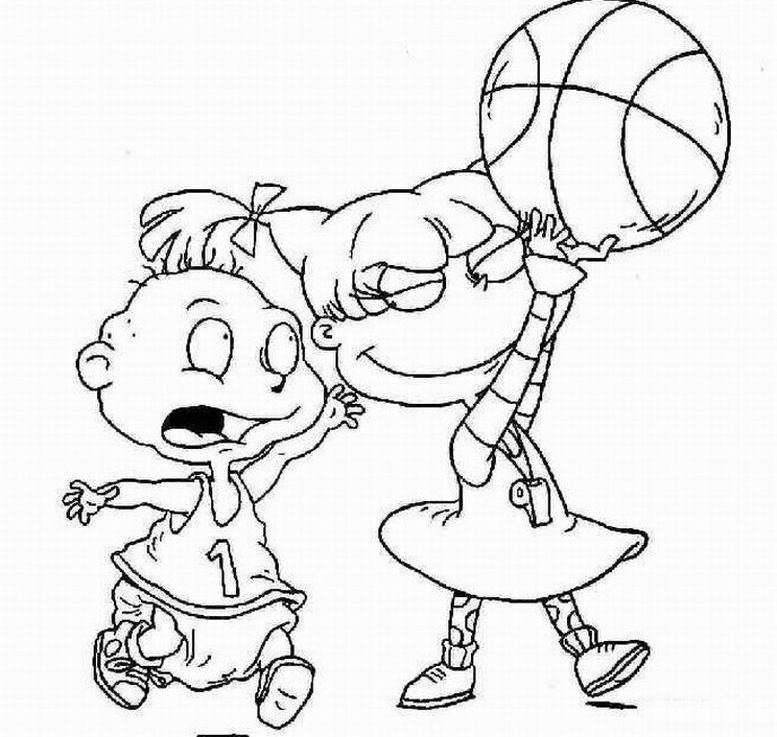 777x737 Basketball Nick Jr Coloring Pages
