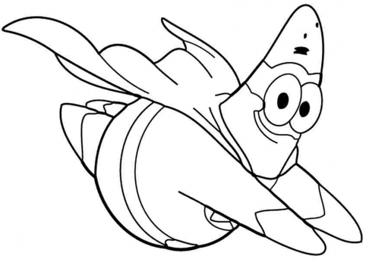 515x730 Spongebob Squarepants Doing Karate Coloring Page Free Printable 730x517 Super Patrick Star Flying To Print Out Nick Jr