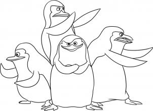 302x220 How To Draw Madagascar Penguins, Step By Step, Nickelodeon