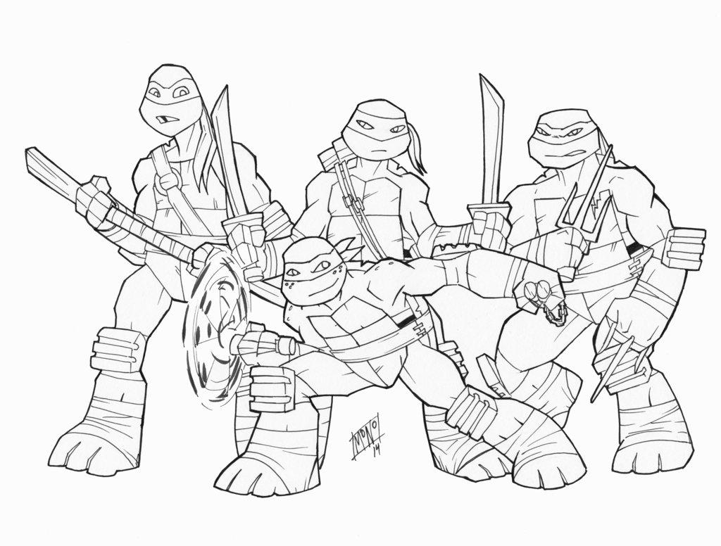 1024x776 Nickelodeon Ninja Turtles By Mono Phos