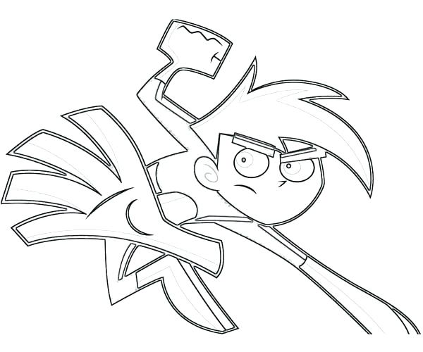 600x500 Danny Phantom Coloring Pages Extraordinary Phantom Coloring Pages