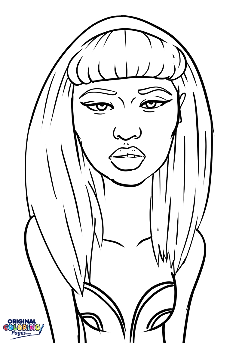 815x1138 Nicki Minaj Coloring Pages Printable Wwe Characters Coloring Pages