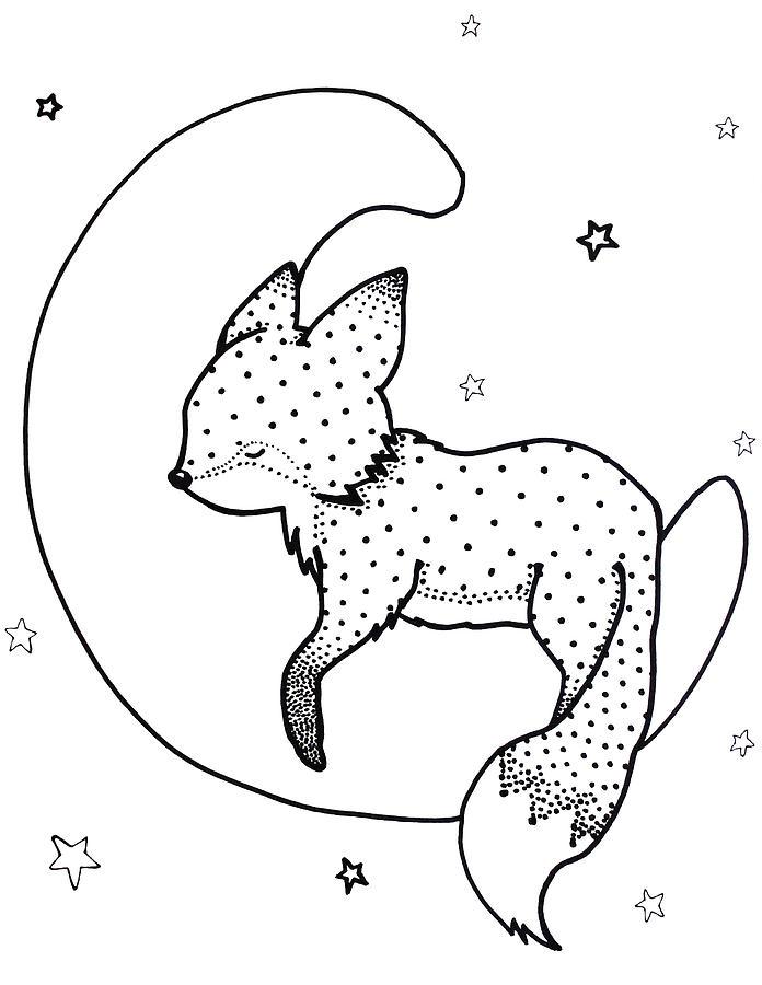 696x900 Goodnight Fox Drawing By Hilari Alsip