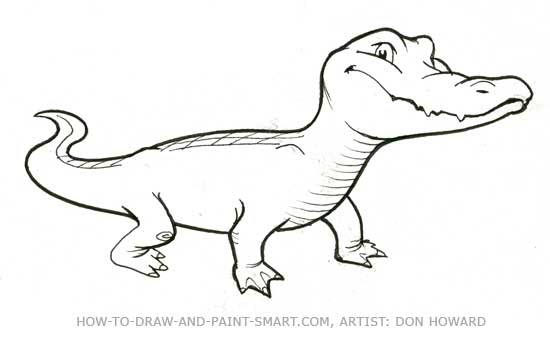 550x337 How To Draw Alligators