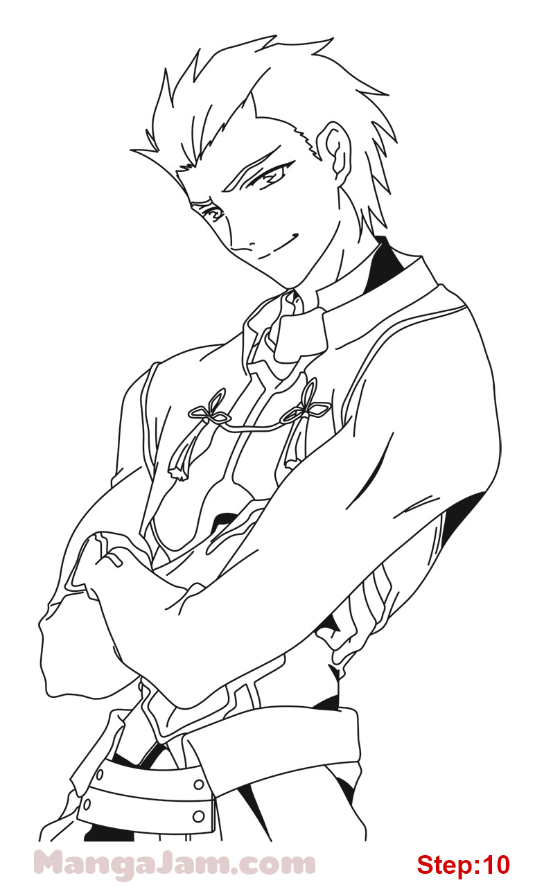 772x1280 How To Draw Archer From Fate Stay Night Step 10 Crafts