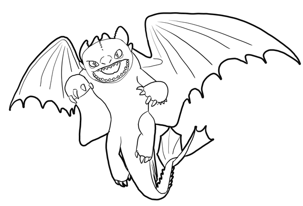 600x408 How To Draw Toothless Night Fury Dragon From How To Train Your