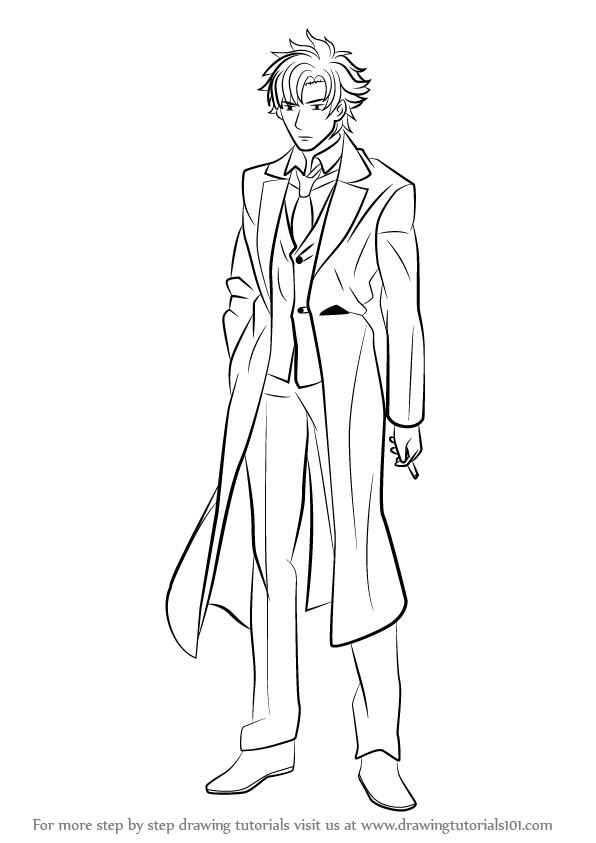 596x843 Learn How To Draw Kiritsugu Emiya From Fate Stay Night (Fate Stay