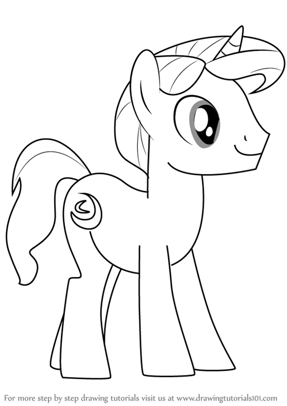 566x800 Learn How To Draw Night Light From My Little Pony