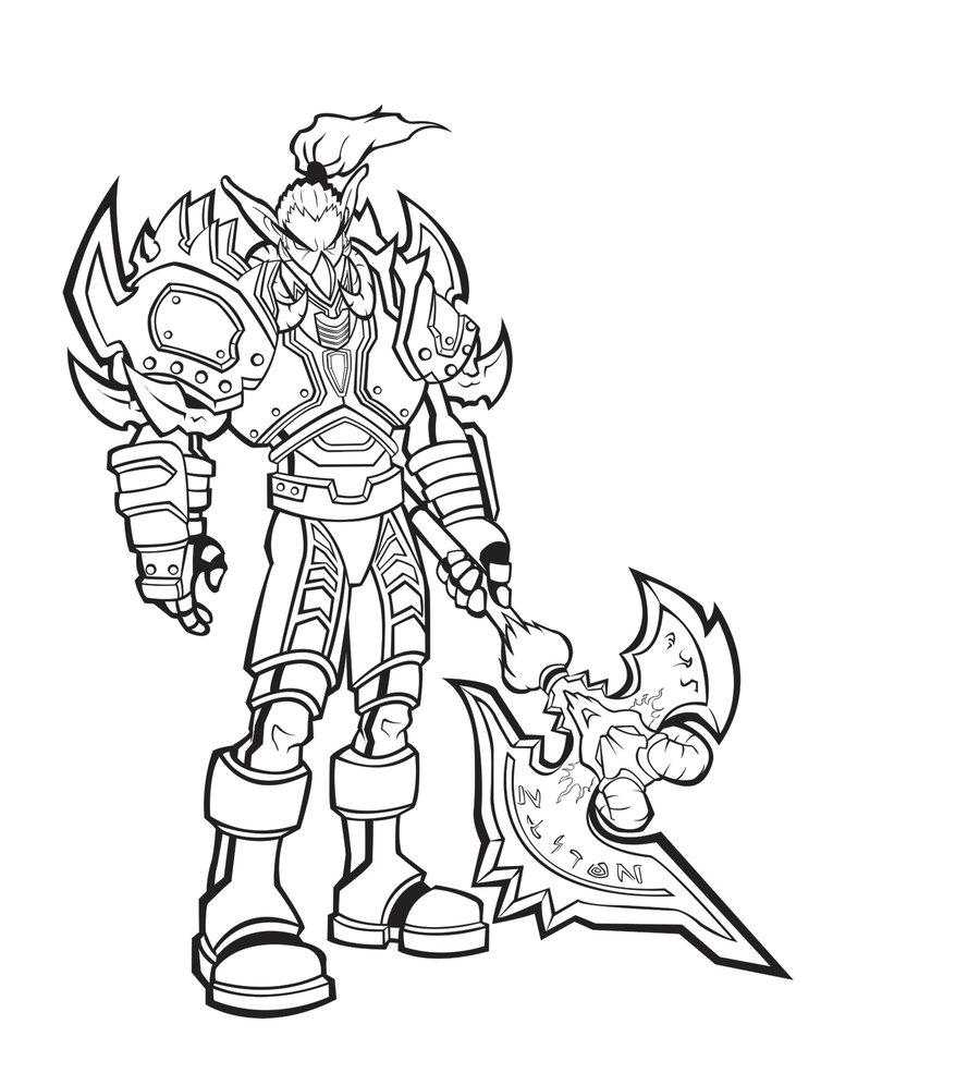 900x985 Night Elf Warrior By Xephondp