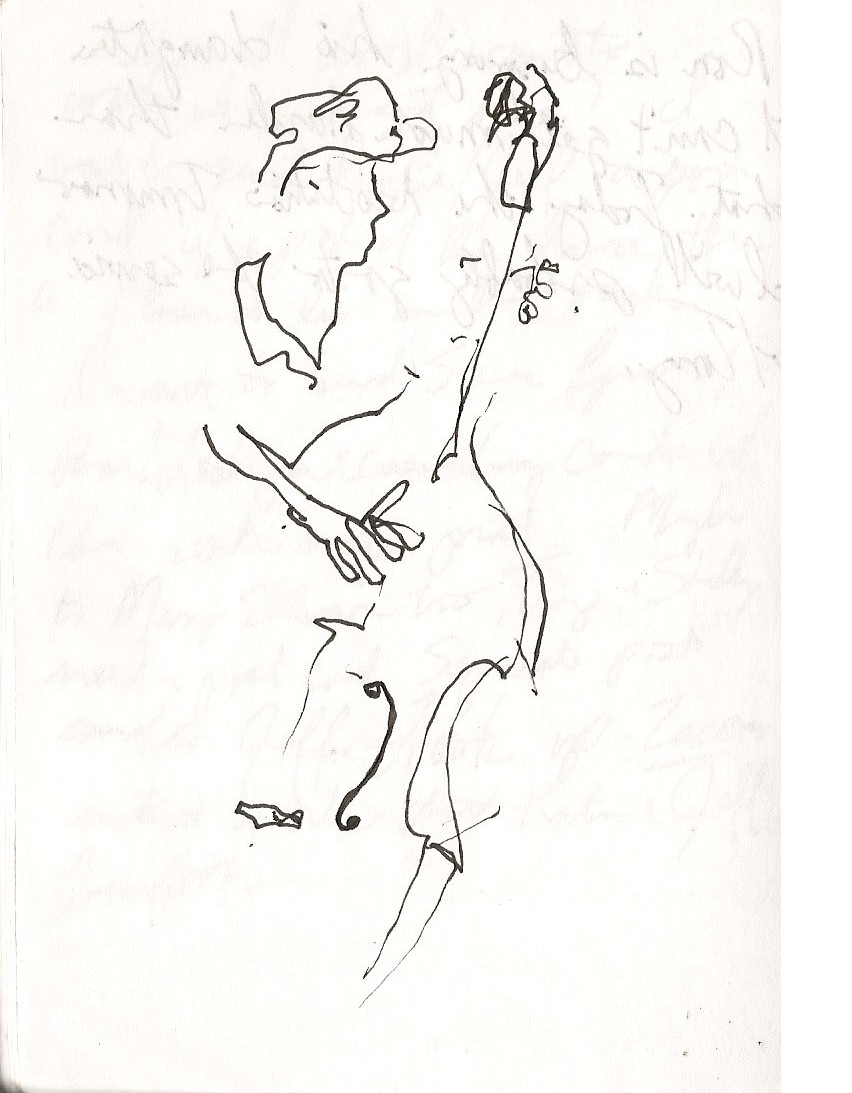 852x1093 Blind Contour Drawing Leannderthal