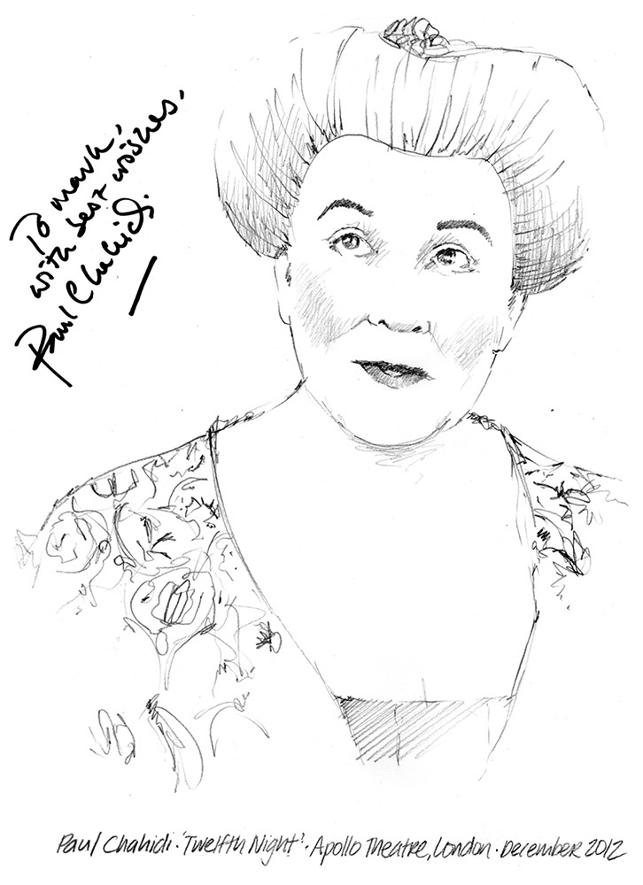726x1000 Drawing Paul Chahidi As Maria In Twelfth Night Chicanepictures