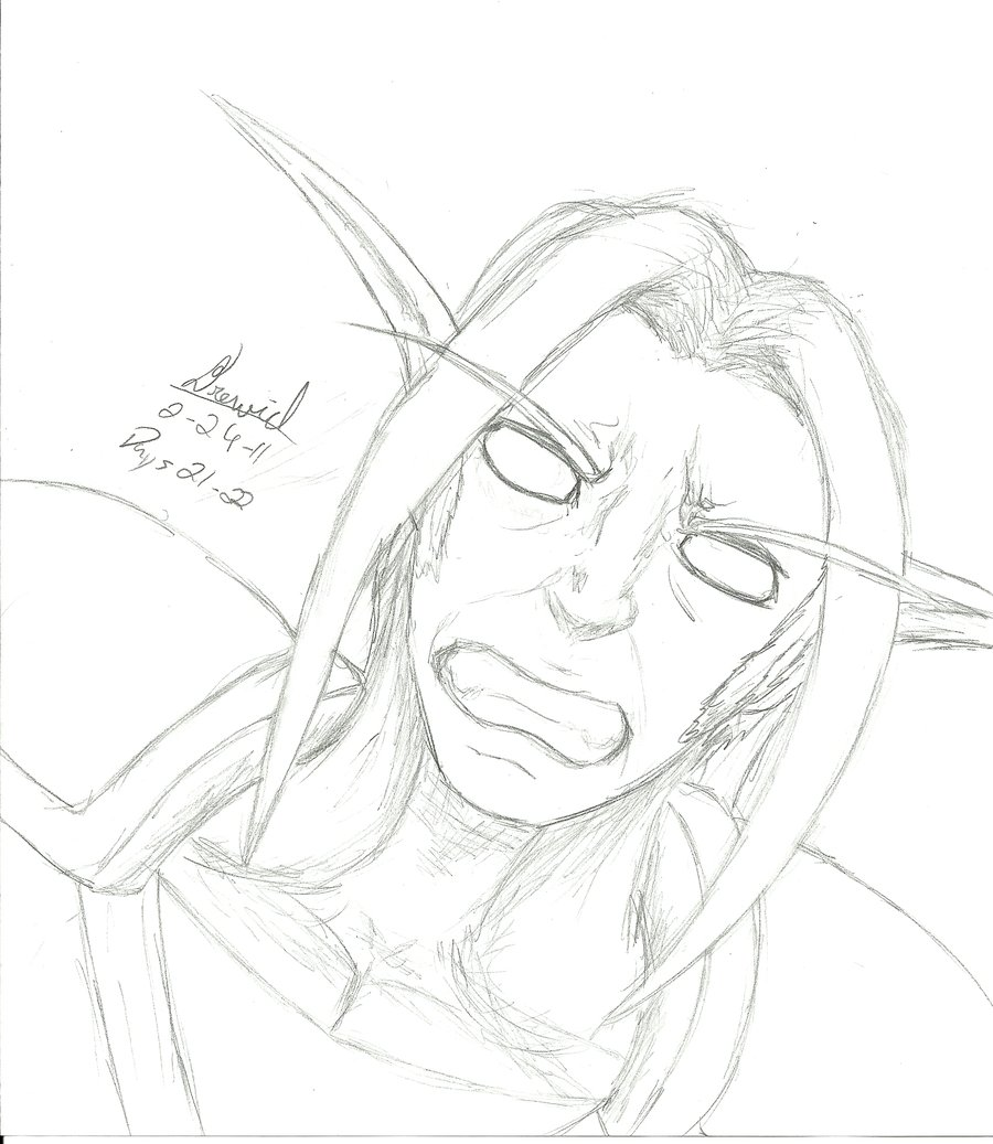 Night Elf Drawing