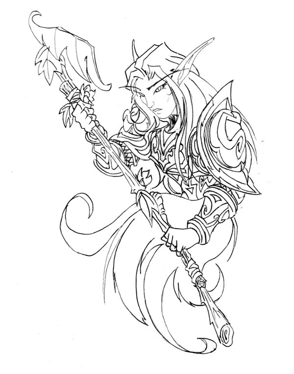 Night Elf Drawing At Getdrawings Free For Personal Use Night