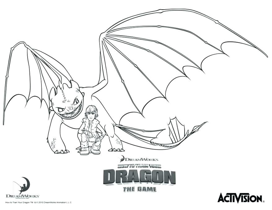 Train Your Dragon How 878x678 Night Fury Coloring Page Color 2 Free For Kids