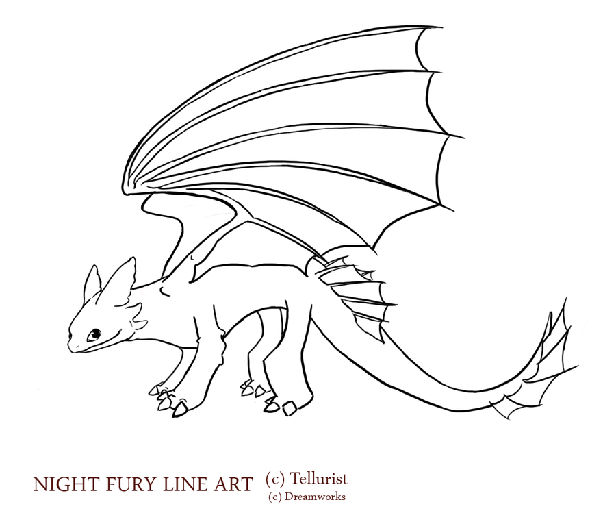 Night Fury Drawing at GetDrawings.com | Free for personal ...