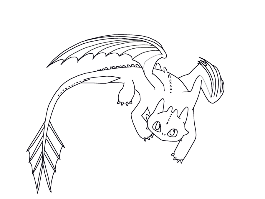 900x675 Night Fury Coloring Pages Page For Kids
