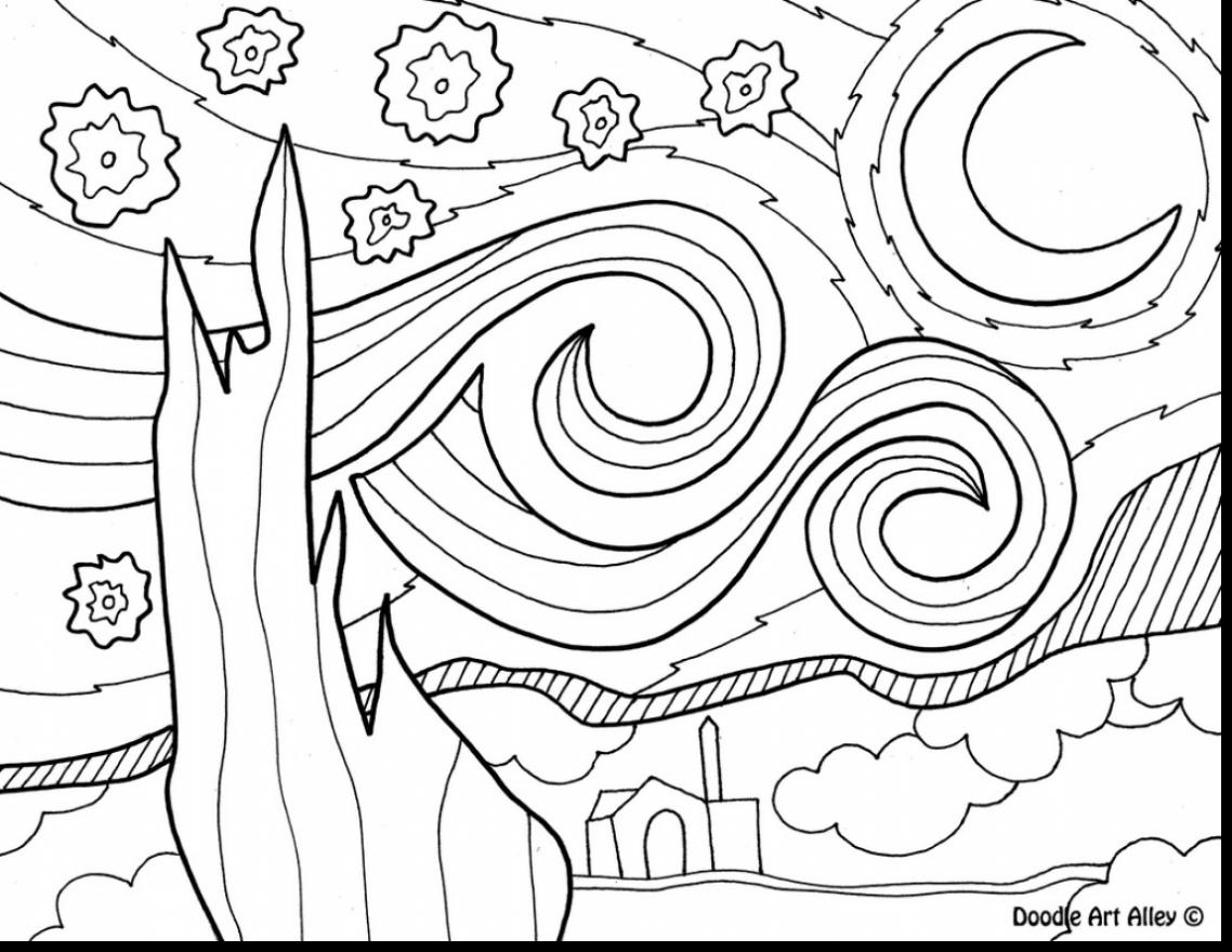 1138x880 Night Sky Coloring Pages Page Image Clipart Images Or On Vincent