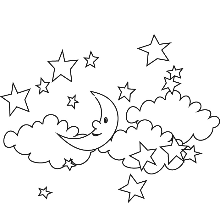 700x700 Coloring Stars 450x450 Cute Unicorn Flying In The Night Sky Black And White