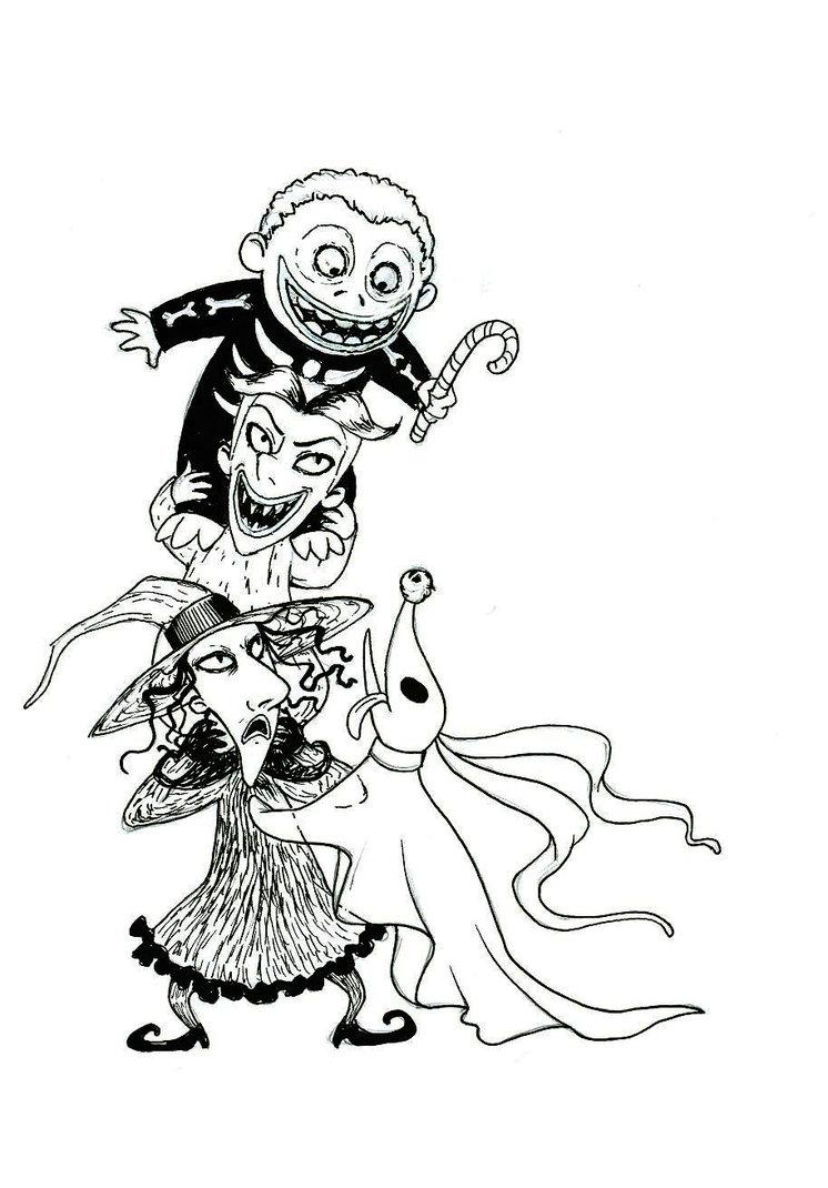 746x1070 Nightmare Before Christmas Characters Drawings Nightmare Before