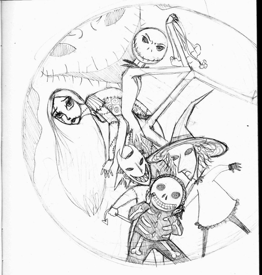 872x916 Nightmare Before Christmas Coloring Pages