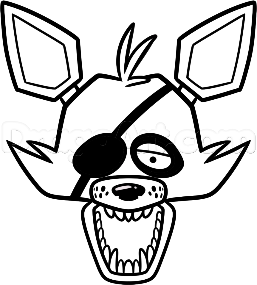 Nightmare Foxy Drawing at GetDrawings com | Free for personal use