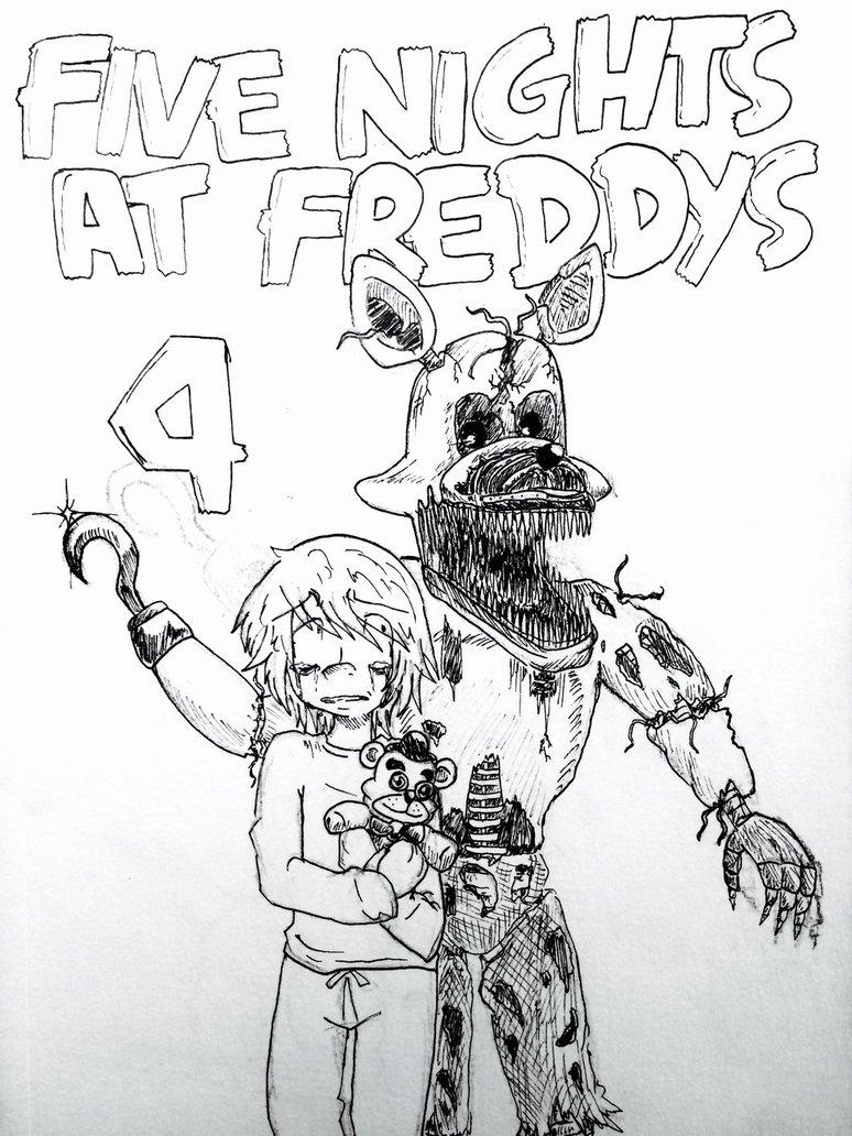 kleurplaat five nights at freddys