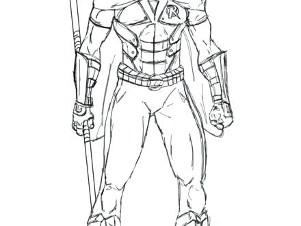 440x330 Elegant Nightwing Coloring Pages Print Coloring
