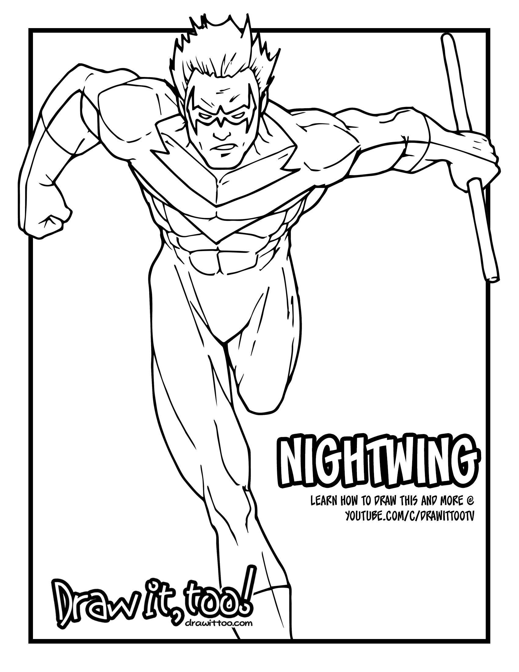 1700x2200 Nightwing (Classic Comic Version) Tutorial