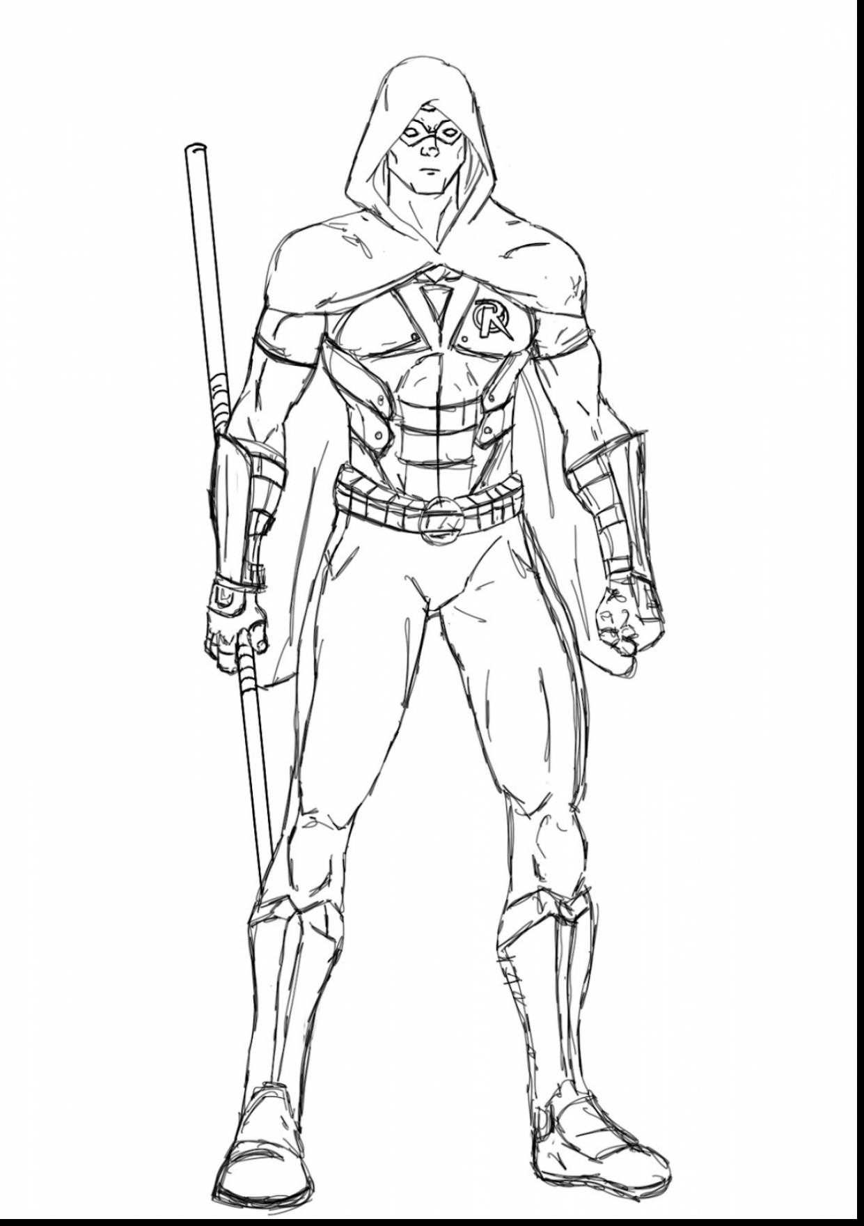 1241x1760 Nightwing Coloring Pages Inspirational Awesome How To Draw Robin