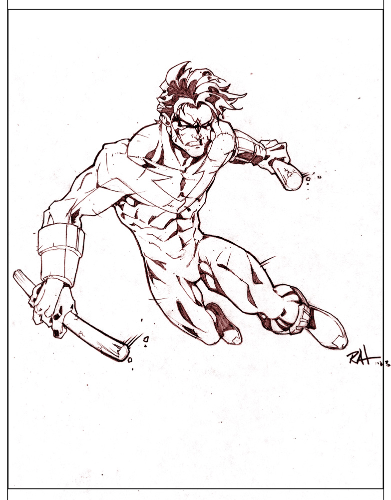 783x1001 Nightwing Practice By Raheight2002 2012