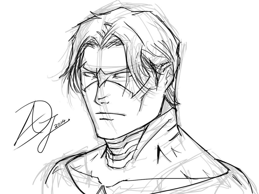 1024x770 Nightwing Sketch By Armanddj